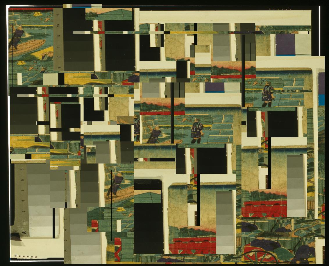 Variante 1: Das Mosaikbild, erstellt mittels Opencv.