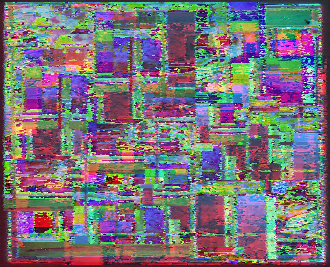 Variante 2: Das Mosaikbild, aber nochmal durch einige Filter gejagt